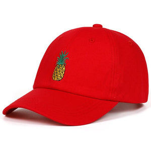 Pineapple Embroidered Baseball Cap