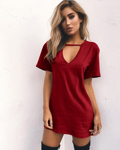 CASUAL V-NECK DRESS