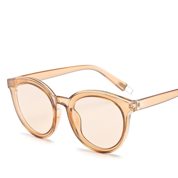 lunettes de soleil cat eye rose transparent- Just-Elle