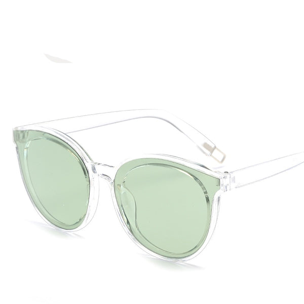 lunettes de soleil cat eye verte monture transparent - Just-Elle