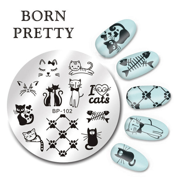 BORN PRETTY Estampage pour ongles décoration.