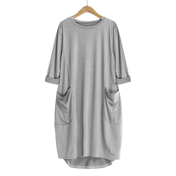 Robe Urban Casual poche large gris