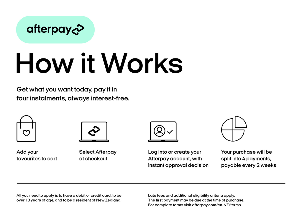 Afterpay available at TimberWink Studio