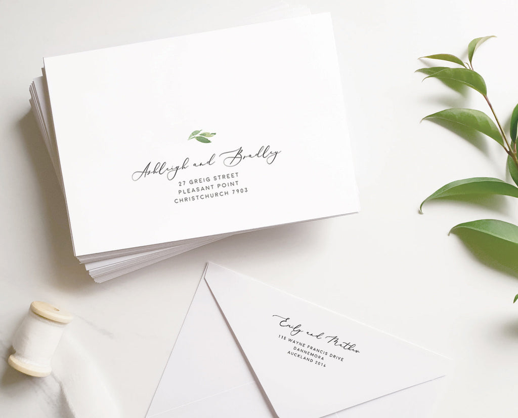 Greenery Wedding Envelope Address Printable Template Instant Download Templett 100% Editable PDF