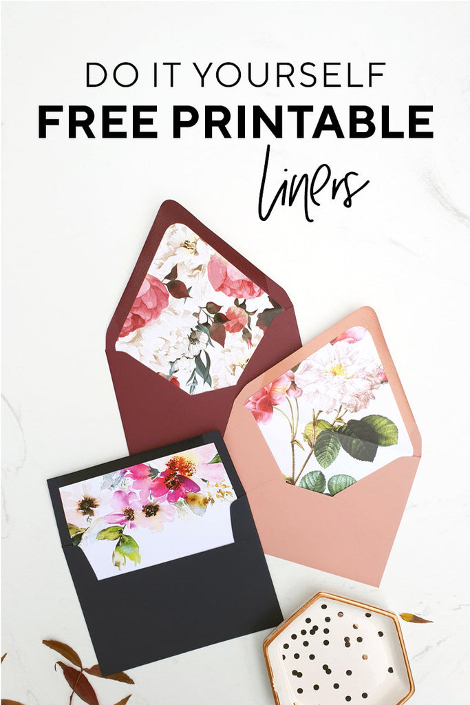 Free Printable Floral Wedding Envelope Liner Download PDF