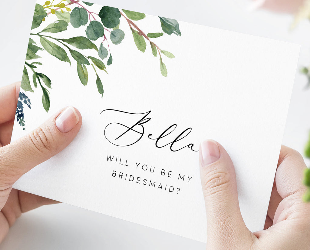 Bridesmaid Proposal Card Template