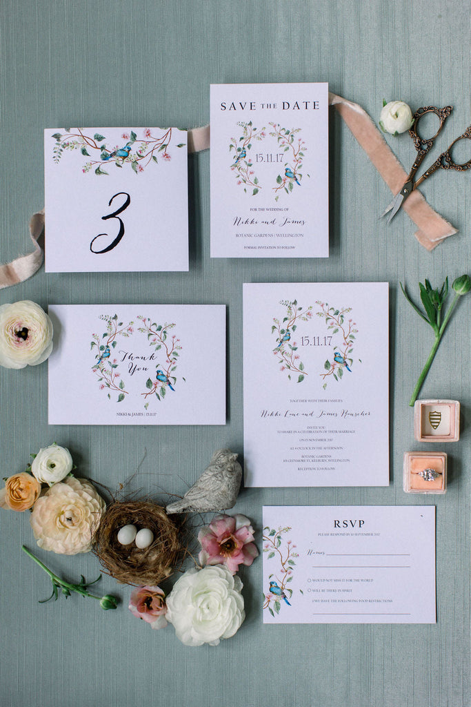 Floral Wedding Invitations Printable Template