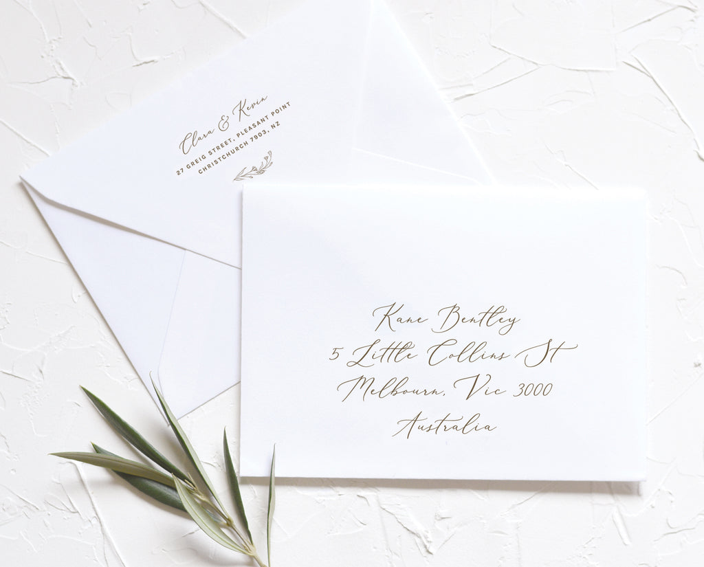 Modern Romantic Wedding Calligraphy Envelope Address Printable Template
