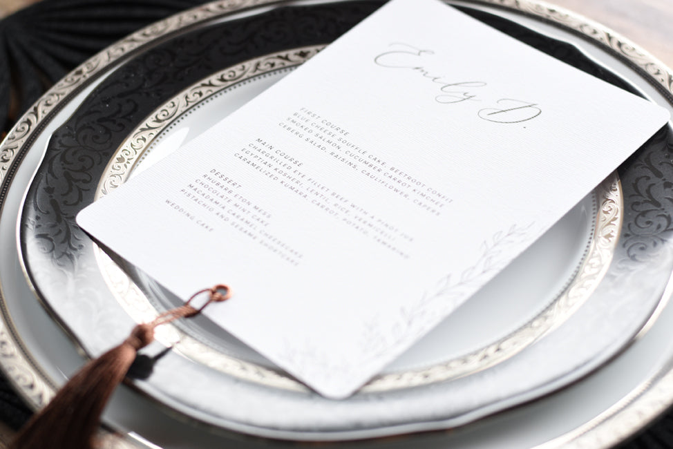 Modern Wedding Menu Template