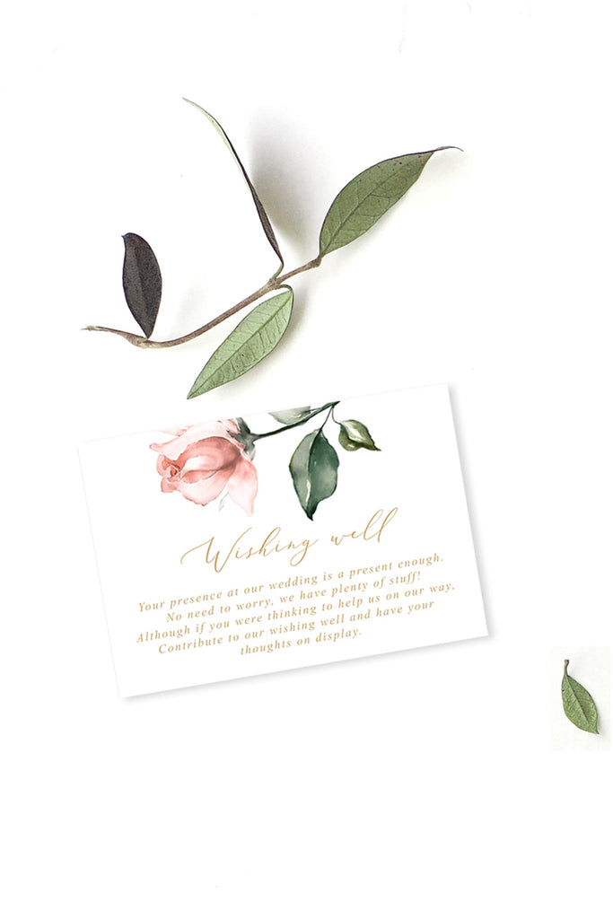 Blush Floral Greenery Wedding Enclosure/Details Card Printable Template Instant Download Templett PDF
