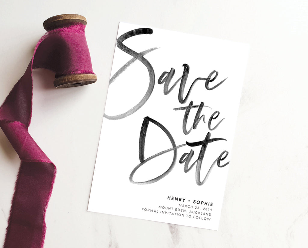 Modern Wedding Save the Date Printable Template