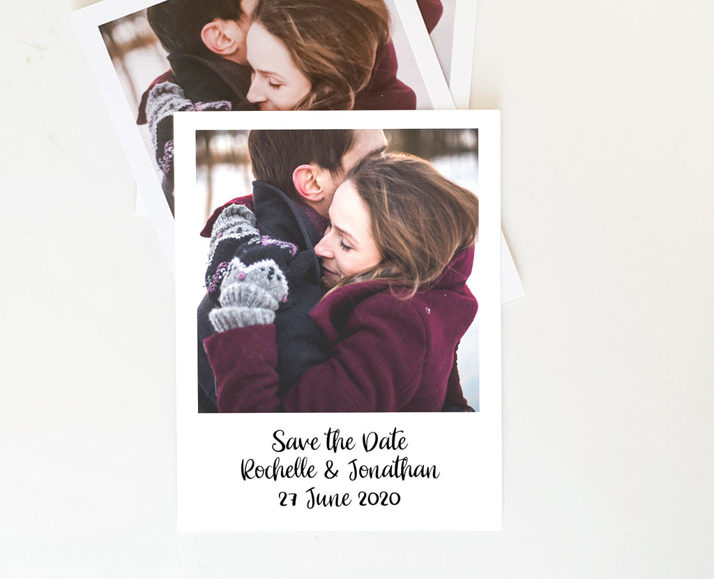 Polaroid Save the Date Photo Printable Template Instant Download PDF Templett