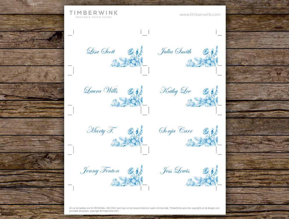 Vintage Wedding Place Card Printable Template