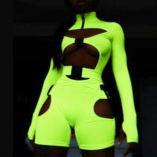 Load image into Gallery viewer, Nia fluorescent buckle long sleeve neon jumpsuit - 3 colours available - mia mae london