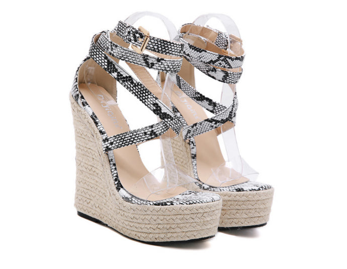 Lala Snake Summer Platform Sandals - mia mae london