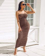 Load image into Gallery viewer, Seb Backless Spaghetti Long Dress - mia mae london