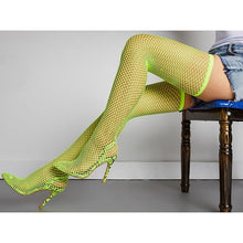 Load image into Gallery viewer, Over The Knee Pointed Toe High Heels Sock Boots - mia mae london