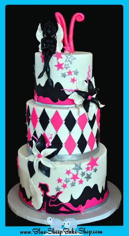 Sweet 16 Hot Pink Fairy Cake