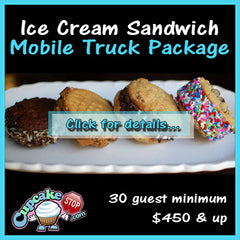 Ice cream sandwich truck mobile party package