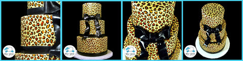 animal print sweet 16 custom cake nj