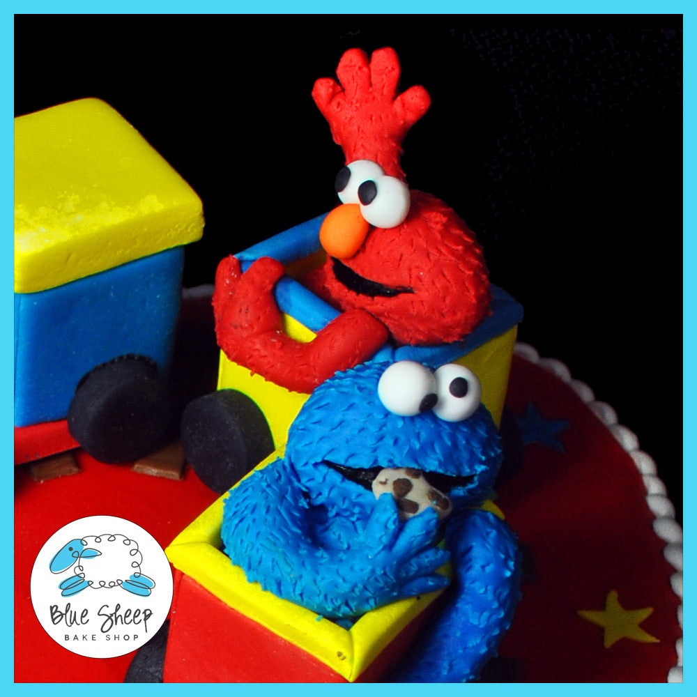 fondant cookie monster and elmo