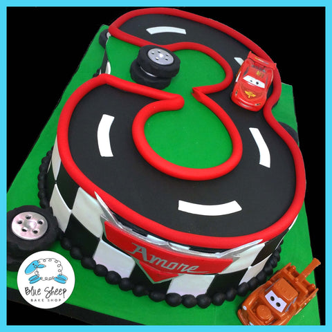 #3 cars lightning mcqueen birthday cake nj