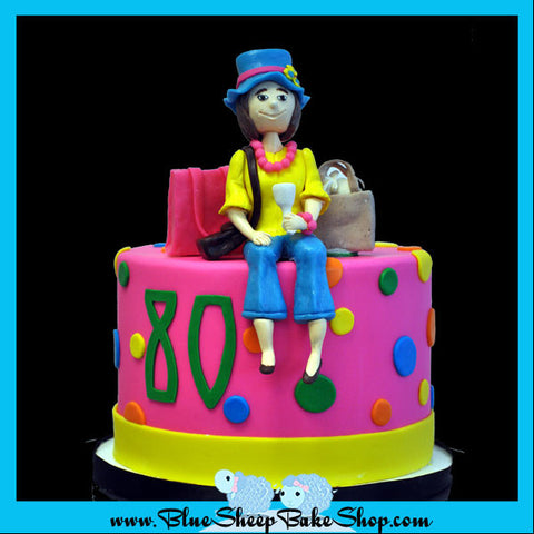 80th birthday cake