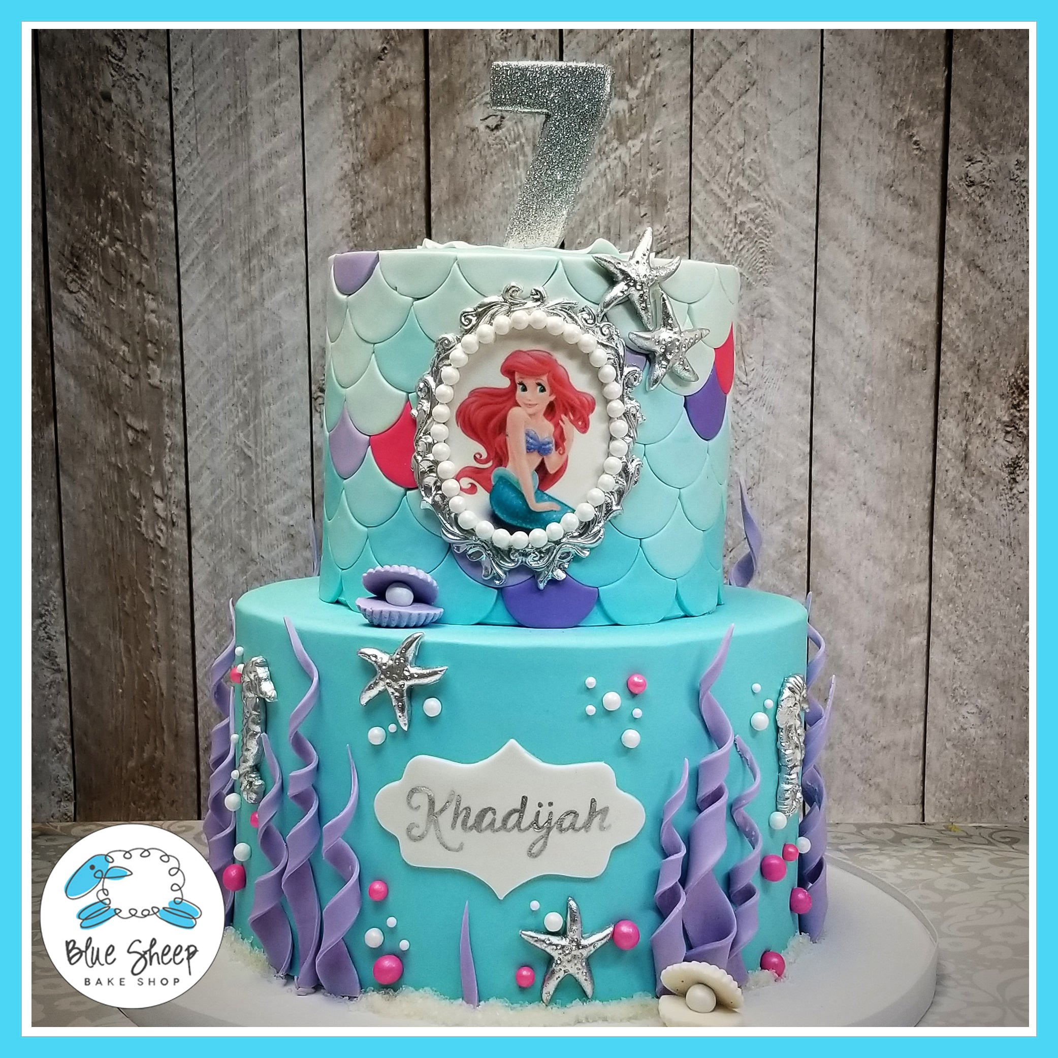 Ariel Little Mermaid Under The Sea Theme NJ Custom Birthday Cakes