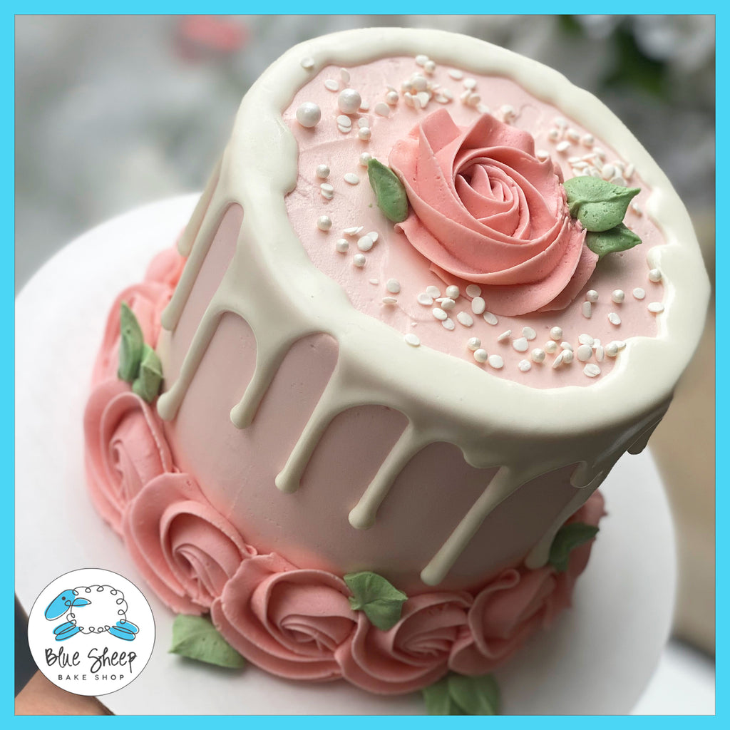 Blush Rose To Go Cake best cakes nj