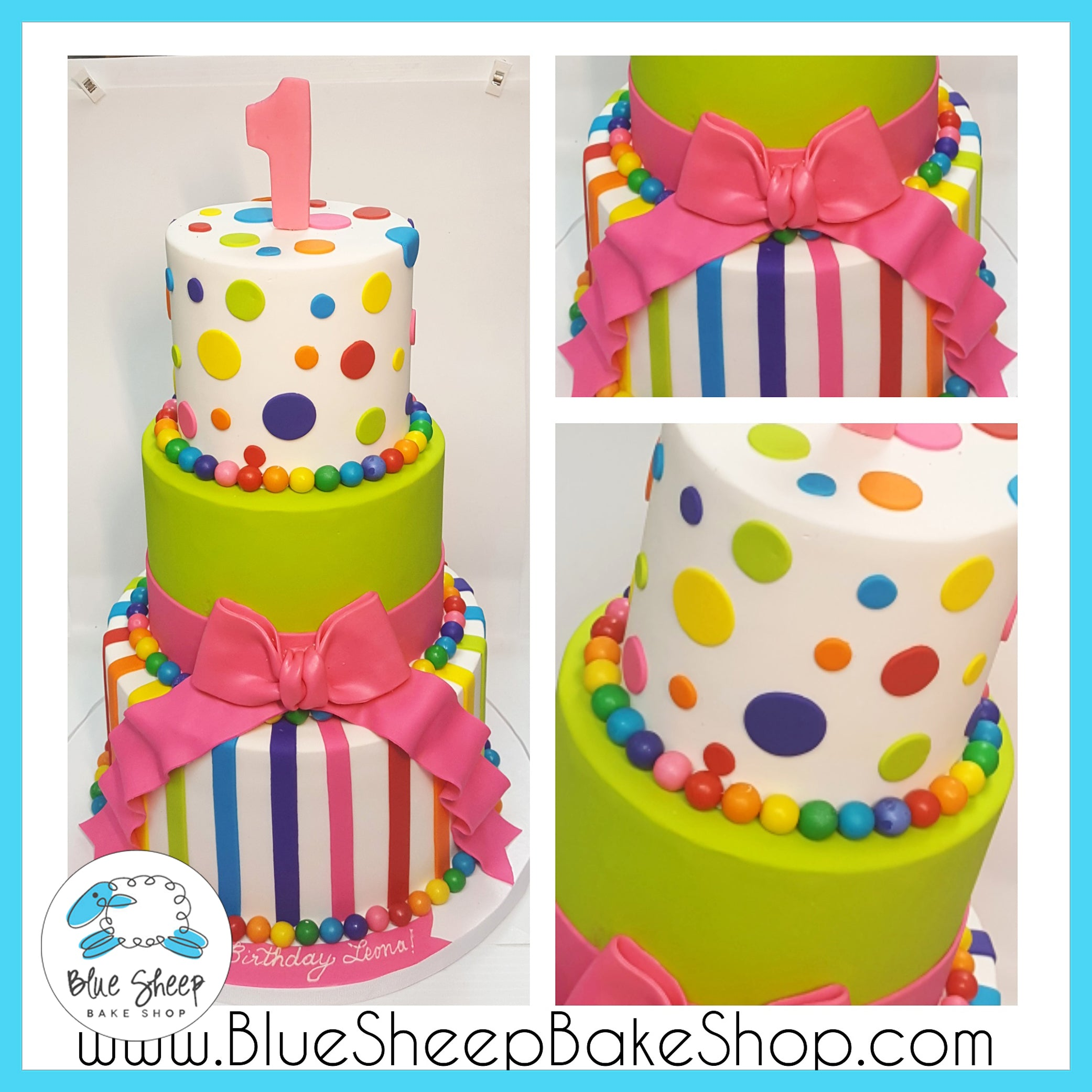 Candyland Birthday Cake Ii Blue Sheep Bake Shop
