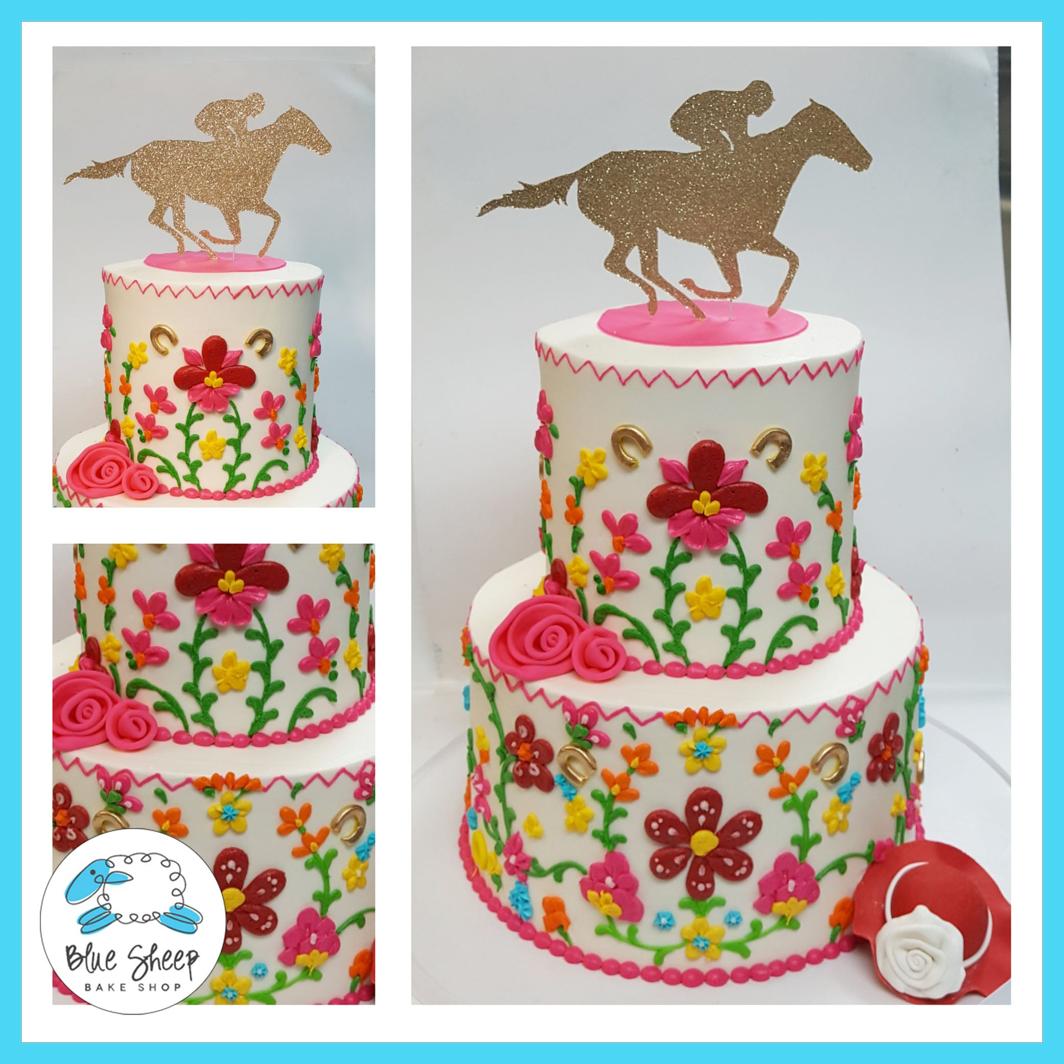 Cinco De Mayo Kentucky Derby Cake Blue Sheep Bake Shop