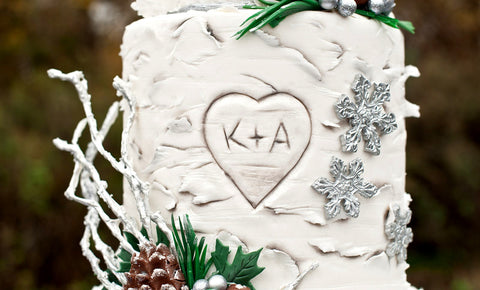 Silver Winter Wedding Cake