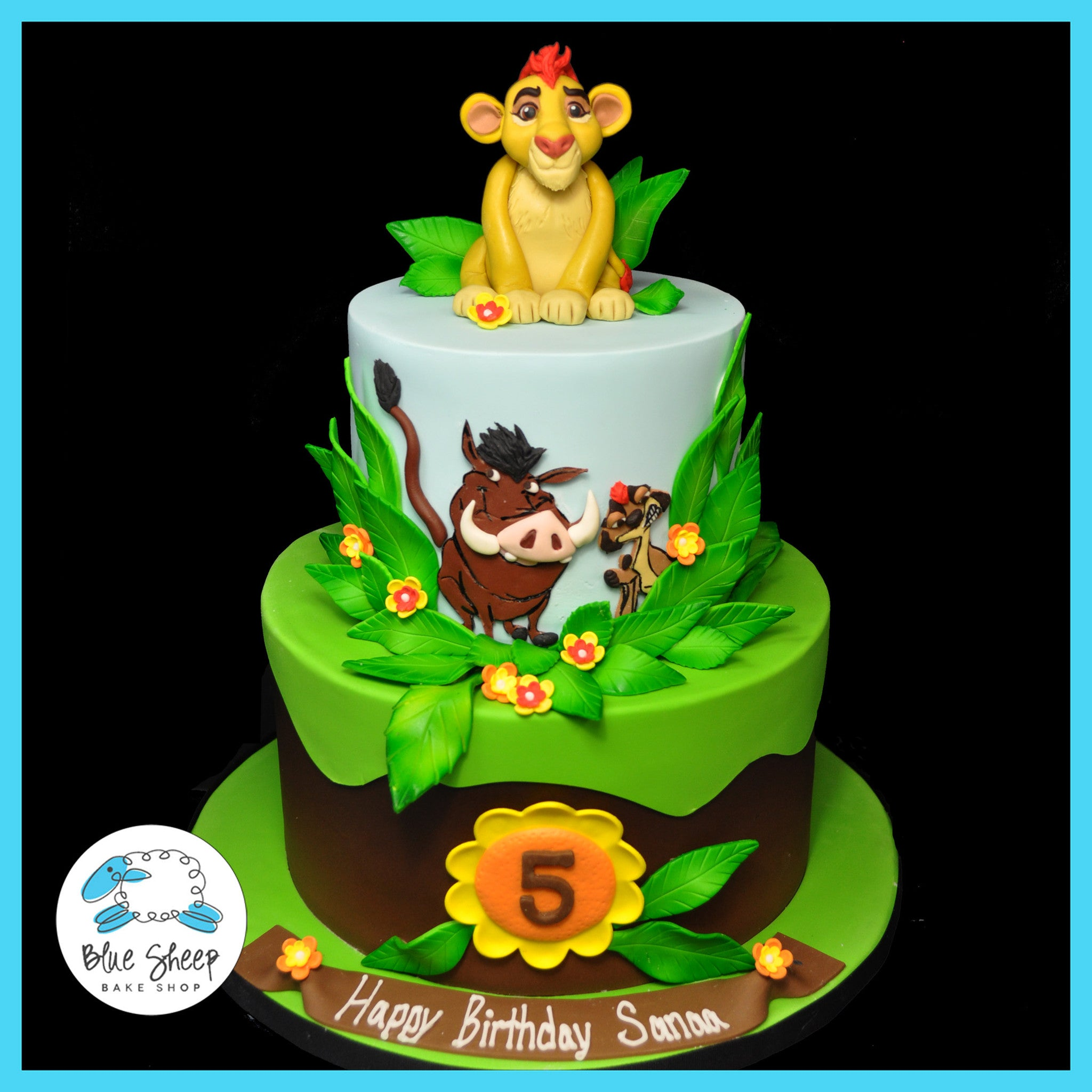 Outstanding Lion King Birthday Cake Blue Sheep Bake Shop Birthday Cards Printable Trancafe Filternl