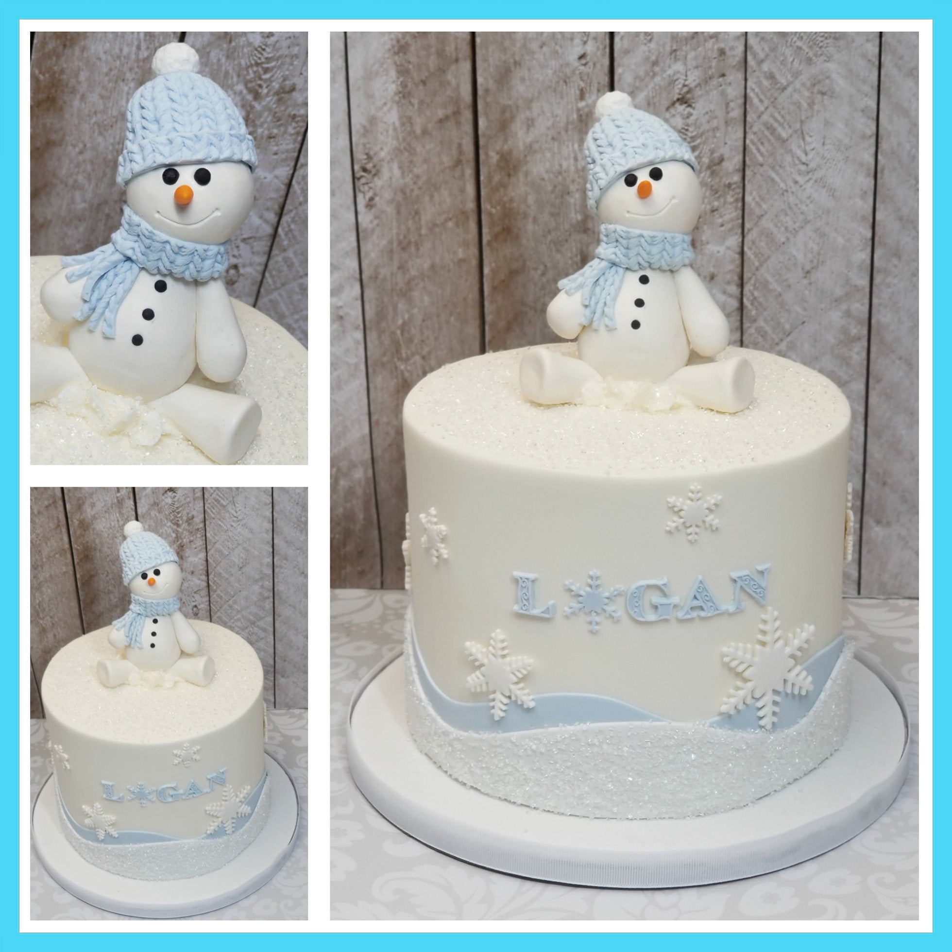 Super Logans Snowman 1St Birthday Cake Nj Best Cakes Blue Sheep Bake Shop Personalised Birthday Cards Petedlily Jamesorg