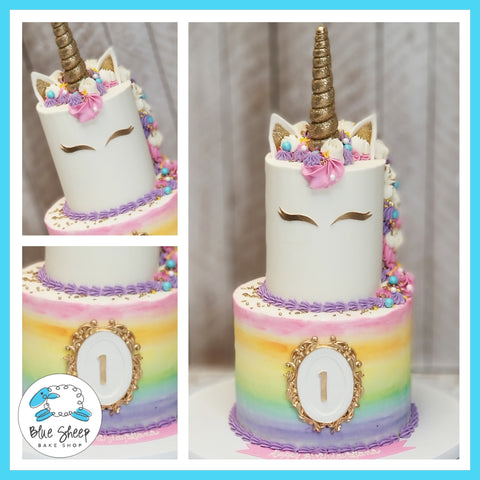 Rainbow Unicorn Birthday Cake - Blue Sheep Bake Shop NJ