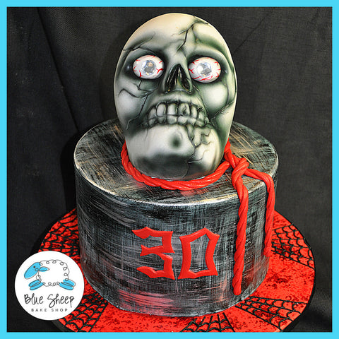 Skulls & Spiders 30th Birthday Cake