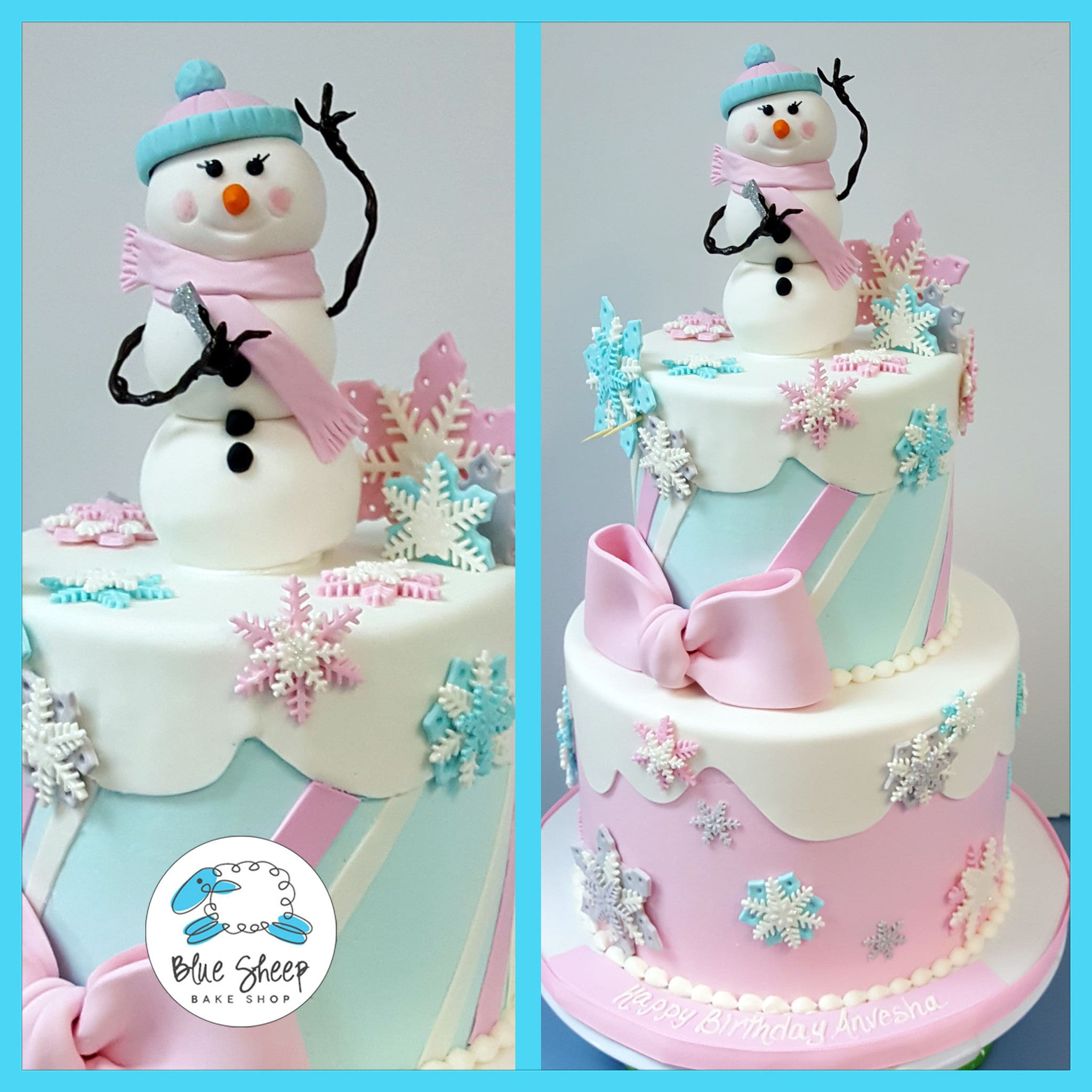 Fabulous Winter One Derland Penguin Birthday Cake Blue Sheep Bake Shop Funny Birthday Cards Online Alyptdamsfinfo
