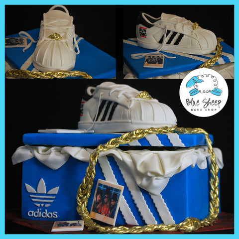 Addidas Sneaker & Shoe Box Birthday Cake - Run DMC Style!