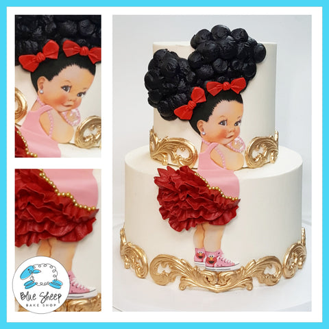afro puffs baby birthday cake nj custom cakes