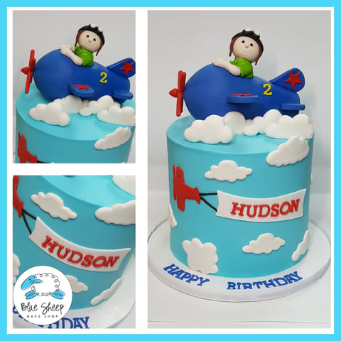 buttercream airplane cake nj
