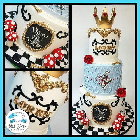 alice in wonder land custom cake nj