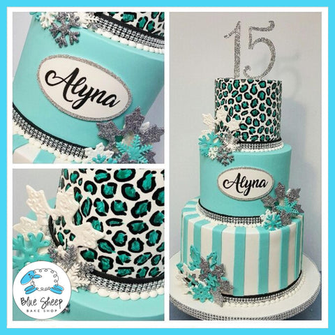 Alyna's Winter Wonderland Quinceanera Cake