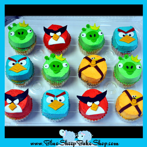 angry birds space cupcakes