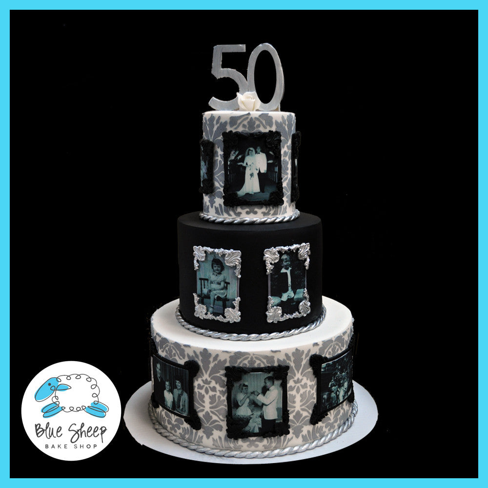 Pictures of 50th wedding anniversary cakes