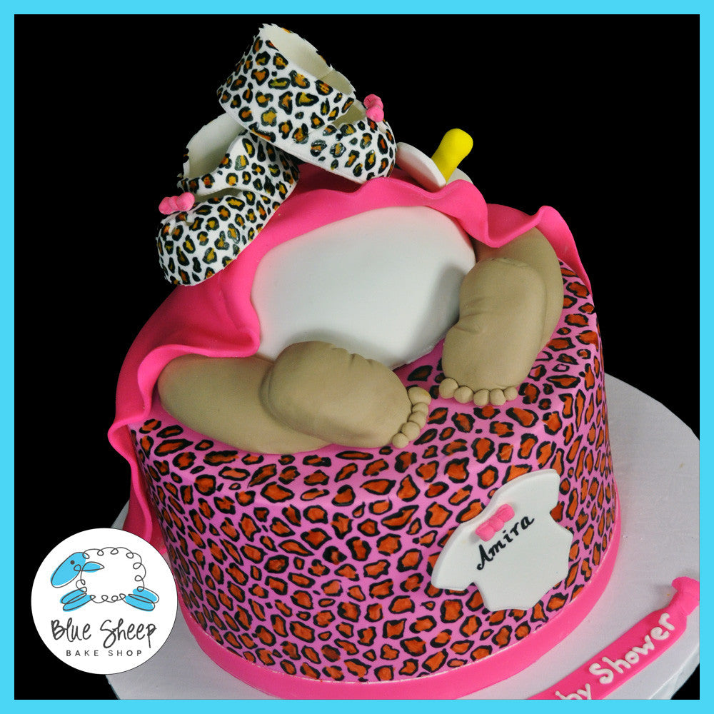 Leopard Baby Rump Cake Blue Sheep Bake Shop