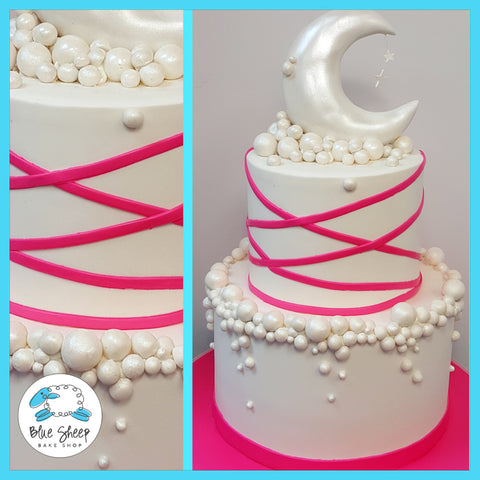 moon and stars baby shower cake nj