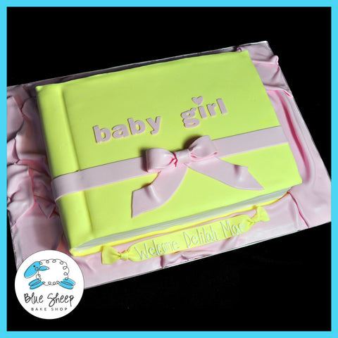 baby book baby shower cake