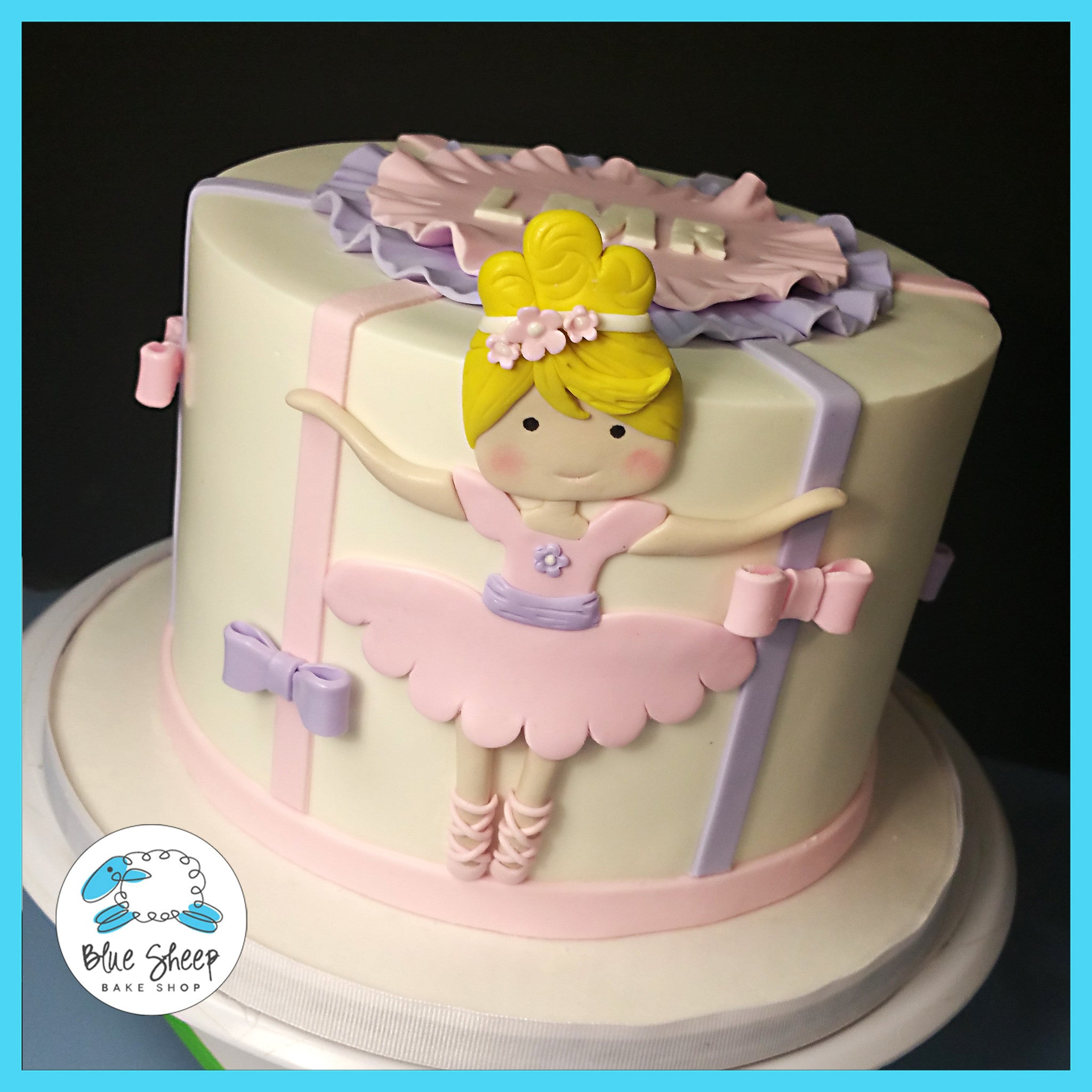 Phenomenal Ballerina Birthday Cake Blue Sheep Bake Shop Personalised Birthday Cards Paralily Jamesorg