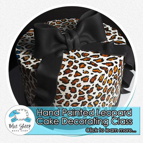 hand painted leopard cake decorating class nj fondant