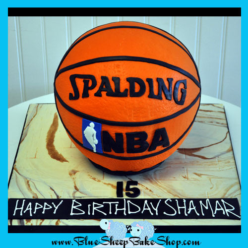 Awesome Basketball Birthday Cake Blue Sheep Bake Shop Funny Birthday Cards Online Alyptdamsfinfo